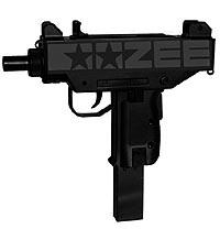oozee - custom bikes , bicycle parts and accesories - black & danger as an uzi gun