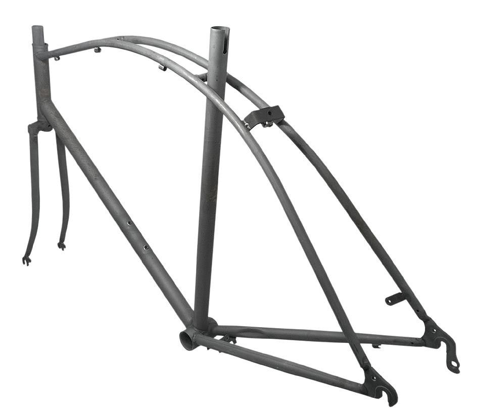 frame + fork Cruiser for 28 inch wheels - size 56 cm - steel ...