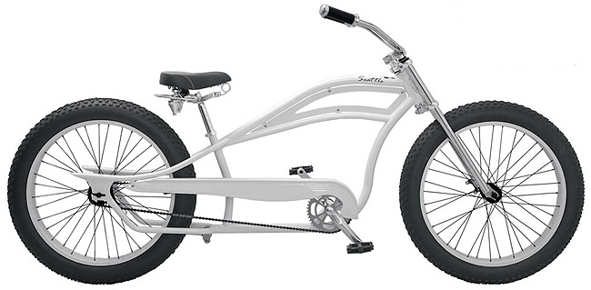 bicycle frame SEATTLE / CYCLONE - STEEL phosphare - stretchcruiser ...